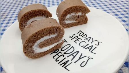 美拍视频: 巧克力奶油蛋糕卷#美食#