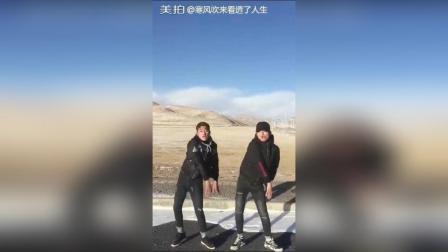 #大美青海 双人摇##舞蹈#