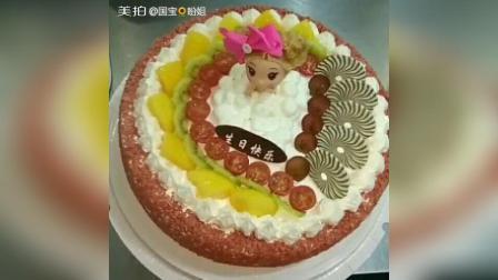#芭比蛋糕##水果蛋糕##美食#