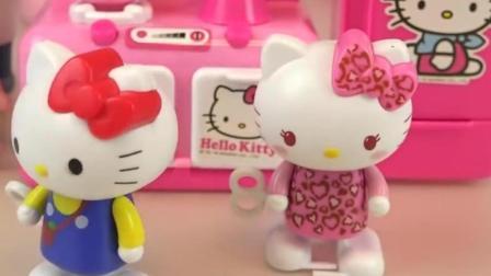 HelloKitty玩具集合冰淇淋制作过家家厨房玩具