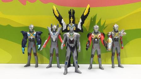 5个不同形态艾克斯奥特曼玩具你喜欢哪一个