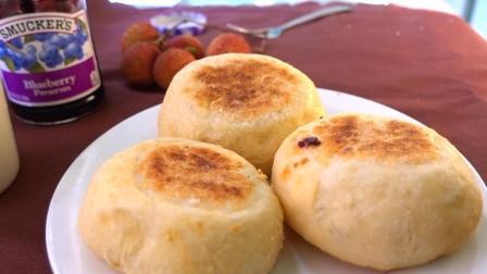 不用烤箱, 无须揉面, 教你做咸香松软的英式麦芬面包, 简单好学