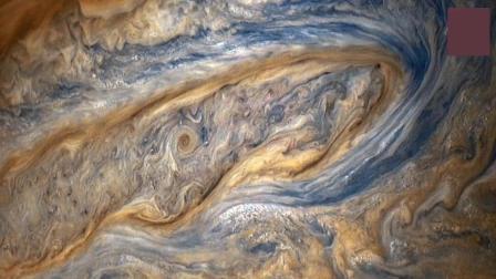 来自朱诺号木星探测器, 拍摄的清晰影像, 原来木星近看是这样的!