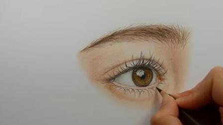 【彩铅画】超写实眼睛彩铅画教程