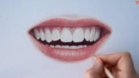 【彩铅画】超写实嘴唇彩铅画教程