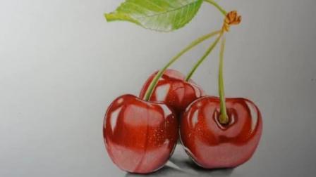 【彩铅画】超写实樱桃彩铅画教程