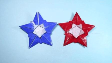 手把手教你折纸五角星, 简单又漂亮的圣诞装饰星星折法
