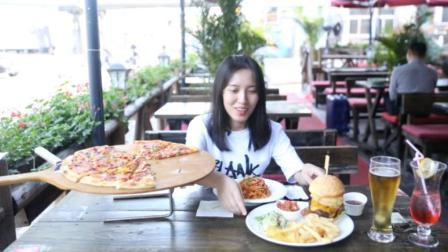 吃北京最正宗的美式汉堡,还有超级大披萨,比妹子几张脸还大!