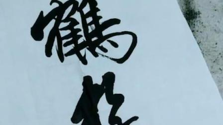 """书法赏析 """"云鹤游天""""多么向往这种自由自在的生活,好惬意"""