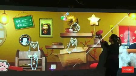 砸捣蛋喵喵-墙面互动-火米互动儿童乐园产品