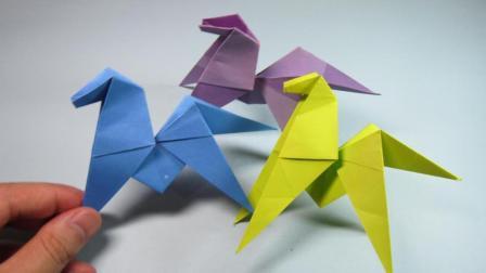 手把手教你折纸马, 一张纸折出简单可爱的小马