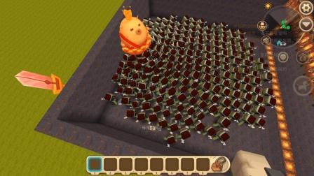 迷你世界: 植物大战僵尸, 一个5级家园果实VS300只僵尸!
