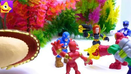 超级英雄互相帮助, 恐龙战队和复仇者联盟一起打败恐龙