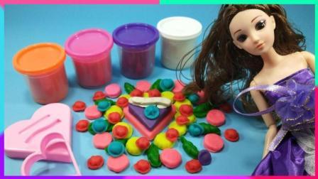 灵犀小乐园之美食小能手 芭比娃娃制作绿叶公主风蛋糕 芭比制作绿叶公主风蛋糕