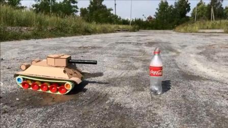 牛人用纸板制作T-34-85坦克模型