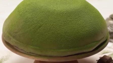 绿茶朱古力大福蛋糕 诱人的甜品