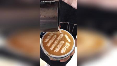 麦穗抖动压纹咖啡拉花#才艺#