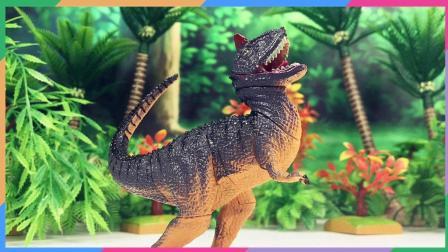 兜糖恐龙世界玩具 超级飞侠乐迪送包警长礼物 恐龙牛龙拼装积木玩具 牛龙VS霸王龙