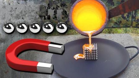 1000℃铜水倒在钕磁铁上, 真的会消磁吗?