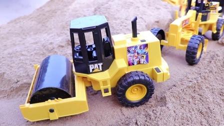 挖掘机工程车表演视频 挖土机动画片儿童电动挖掘机挖土