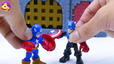 宝宝益智睡前小故事, 钢铁侠帮助美国队长打败邪恶美国上尉