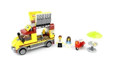 宝宝动手能力大开发玩具, 乐高汉堡美味外卖车益智积木