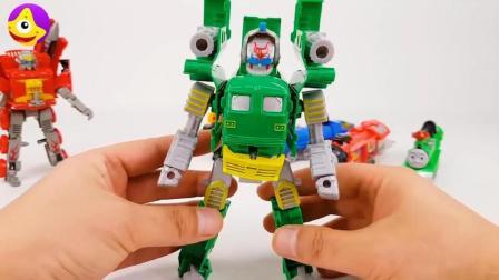 托马斯小火车变身变形金刚玩具, 帅气托马斯小火车机器人