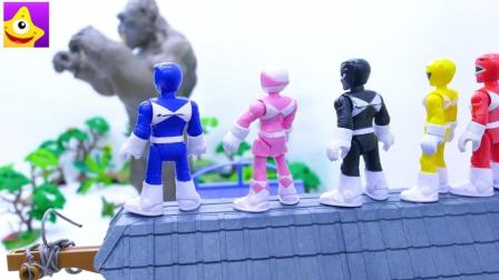 儿童勇敢早教故事, 恐龙战队大战霸王龙和金刚保护世界