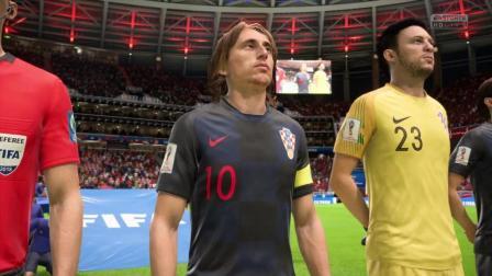 FIFA18 俄罗斯世界杯16强淘汰赛 克罗地亚VS丹麦 上半场