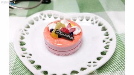 手工奶油草莓多层夹心粘土蛋糕教程