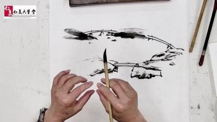 超简单! 原来山水画画石板桥只要注意这一点谁都能画好