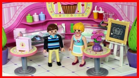 小巧的甜品店蛋糕冰淇淋玩具儿童故事! 586
