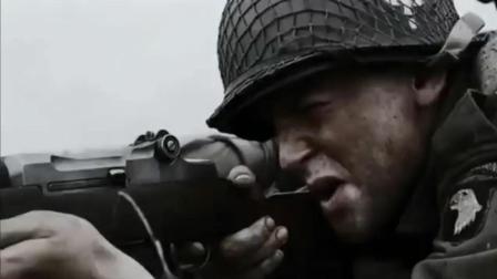 美军精英连队偷袭德军阵地, 装备精良的德军变成了活靶子
