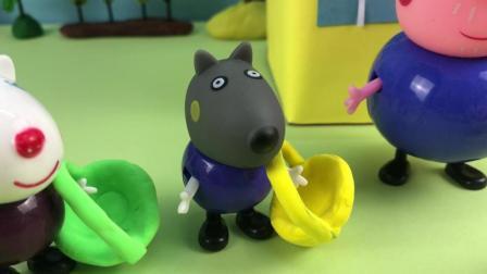 小猪佩奇第4季 猪爷爷给大家颁布了寻找巧克力彩蛋游戏