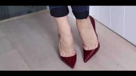时尚尖头高跟鞋, 无论怎么看都是那么迷人!