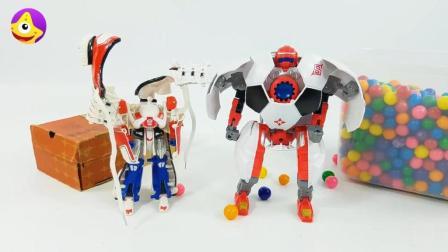 变形金刚汽车人变身球鞋机器人和足球机器人一起来踢世界杯啦