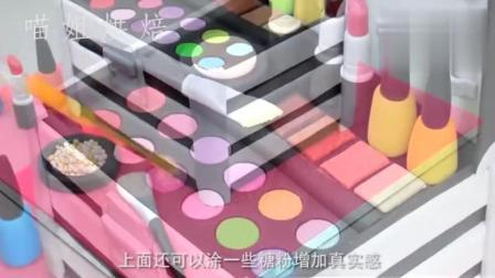 化妆盒的新玩法! 用翻糖蛋糕做出的化妆盒你能学会吗