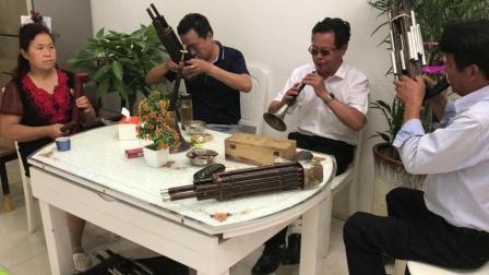 邓州市郑林老师, 唢呐吹奏悲调, 太伤感了