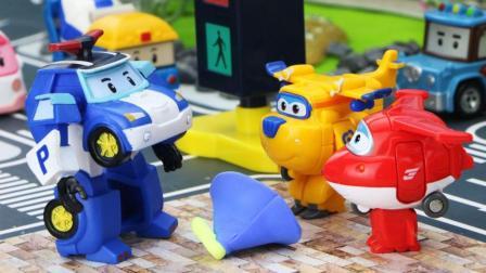 超级飞侠乐迪和多多解决路口拥堵问题