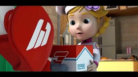 超级飞侠4-乐迪这次送的包裹是为了给小朋友装饰蛋糕