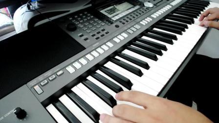 电子琴演奏-阿瓦人民唱新歌
