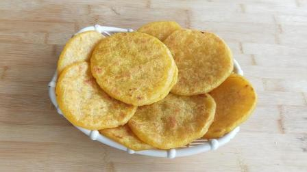 南瓜饼最好吃的做法, 不加一滴水, 做出的饼外酥里嫩, 软糯香甜!
