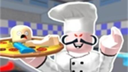 """【波波仔解说】roblox逃出披萨店——原来这个披萨店里卖的全是""""生化人肉披萨""""!"""