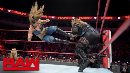 【RAW 07/02】娜塔莉亚人盯人监视阿莱克萨 奈亚贾克斯释放萨摩亚摔