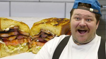 "VICE大厨小吃 ""咬一口上天""的BLT三明治 美网红大厨5分钟教会你"