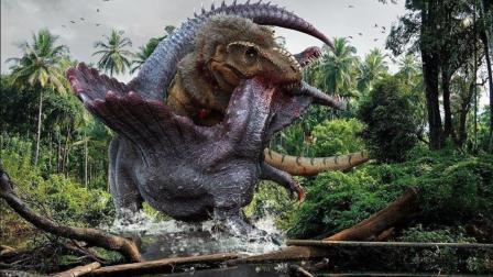 这么激烈的恐龙打斗场面, 如果回到恐龙时代, 人类可能活不过一天!