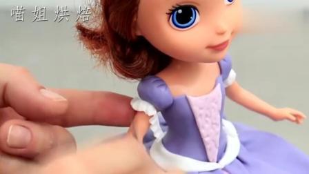 城堡中最美的公主索菲亚来了! 没想到居然还是翻糖蛋糕!