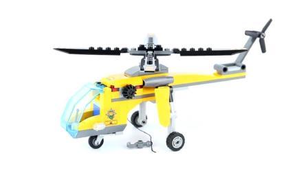 乐高飞机益智积木玩具, 拼装帅气直升机, 宝宝动手能力大开发