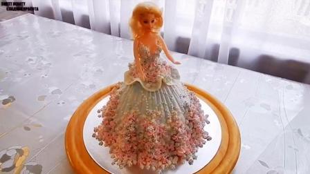 教你做超高颜值的芭比娃娃蛋糕, 圆心中公主梦