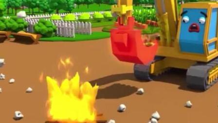 赛车总动员: 挖掘机烤玉米做爆米花